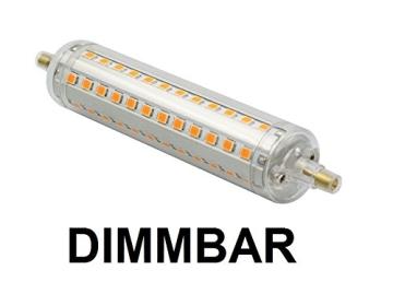 Dimmbare 10 Watt LED Stablampe R7S Warmweiß - 118mm Länge - ~125 Watt Halogenstablampe - 1