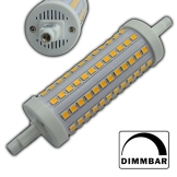 R7s LED 10 Watt rund 118mm dimmbar 108x SMDs warmweiß Strahler A+ Leuchtmittel Lampe Halogen j118 Fluter Standleuchte Brenner Scheinwerfer - 1
